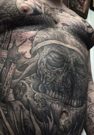 Thulsa Doom Conan the barbarian concept by tattoo artist WELT