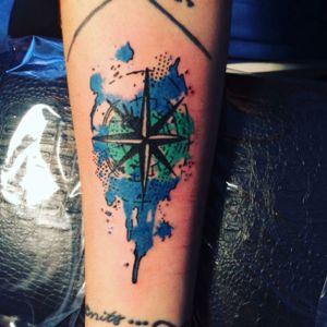 #compasstattoo #compass #watercolortattoo