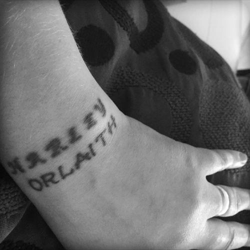 #wrist #old #new #children #names #justincaseiforget #bw