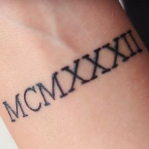 Roman numeral tattoo #numerals #roman