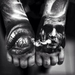 #hand #scary #creepy #dark #Black #horror #face #eye #smoke