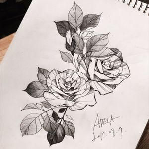 (Insta @adela_tattooer) #tattooflash #flowerflash #peonytattoo #flowertattoo #korea #rosetattoo #rose #tattoodesign #linework #blackandgrey #linework  #koreatattoo #blackwork #blackworker #adelatattoo #topflash
