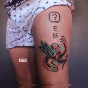 i am play i n g y o u like a vid e o g a m e . for Egor #azitatts #tattoo #pixeltattoo #aesthetic #neotats #taot #사랑 #tattoorussia #tattooworld #spbtattoo #cyberjapan #tatts #donkeykong #inkjunkeyz #videogame