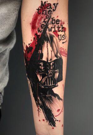 Darth Vader em Trash Polka Para orçamentos Av. Rebouças, 2445. Pinheiros ou também pelo WhatsApp (11) 94160-6145 Tatuagens menores também são feitas com a mesma dedicação dos trabalhos maiores ! Já viu meus histories fixados ? Lá tem alguns trabalhos que estão disponíveis para tatuar, quem sabe você não se identifica ? #darthvader #starwars #starwarstattoo #lucasfilm #darthvadertattoo #gamerink #animemasterink #nerd #nerdtattoo #geek #geektattoo #gamer #gamertattoo #game #tattoo2me #inspirationtattoo #tatuadoresbrasileiros #watercolor #watercolortattoo #aquarela #tattoo #tatuagem #trashpolka #trashart #abstract #abstracttattoo #equilattera #cinema #maytheforcebewithyou #maythe4thbewithyou