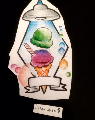 Icecream space #space #galaxy #galaxia #espacio #ufo #stars #estrellas #planeta #jupiter #saturno #planet #cosmo #cosmic #tattoo #ink #inkñofe #tattoolige #tatuaje #art #arte #artlife #blackandwhite #blancoynegro #draw #dibujo #happyalientattoo #detail #work #happy #dotwork #love #icecream