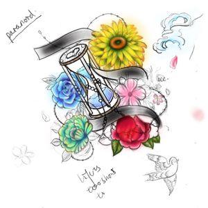 #original #originaldesign #flower #floral #sandclock