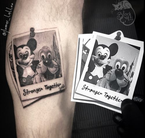 • Polaroid Memory •  Mickey & Pluto Disney World 2002 ————————————- #blackcatink #lafincagolf #algorfa #sorrymom #sorrymomambassador #tattoodo #tattoosocial #tattoofreaks #bcntattoo #alicantetattoo #tattoospain #bcnttt #tattooart #tattoolife #tattooartist #nerdytattoosdaily #mickytattoo #mickeymouse #pluto #tattooworkers #instatattoo #disneytattoo #disney #disneyfan #instadisney #thebestspaintattooartists #tattooartmagazine #picoftheday #instadaily #tattoosnob @disney @disneytattooart @disneystudios #mickeymouse #pluto #disney #tattoooftheday