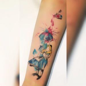 Alice aquarela #watercolor #tattooaquarela #aliceinwonderland