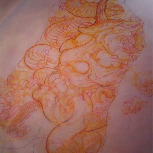 Back hannya sketch