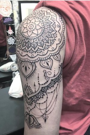 Mendhi sleeve by tattoo artist Silvia Akuma