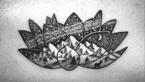 #nature #dotwork #blackwork #linework #tiny #lotus