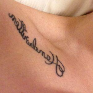 #handwritten #collarbone