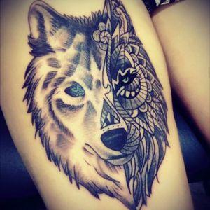Wolf #tattoowolf #fineline #tattoo #blackwork