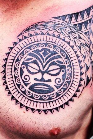 Done by Jarno Theijn - Resident Artist #tat #tatt #tattoo #tattoos #tattooart #tattooartist #ink #inked #inkedup #inklovers #amazingtattoos #amazingink #chesttattoos #armtattoos #maori #maoritattoos #culemborg #netherlands