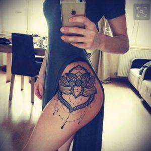 Want something like this on my hip! #hip #tattoo #mandala #henna #lotus #future #dreamtattoo