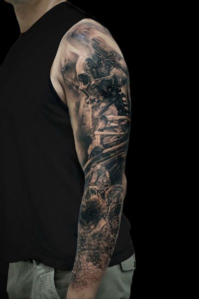 For more of my tattoos, check out www.instagram.com/bacanubogdan or www.Facebook.com/bacanu.bogdan.7 #BacanuBogdan #tattoooftheday #tattoo #blackandgrey #realism #realistic #tattooartist #sleeve #pirate