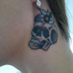 #necktattoos #skulltattoo