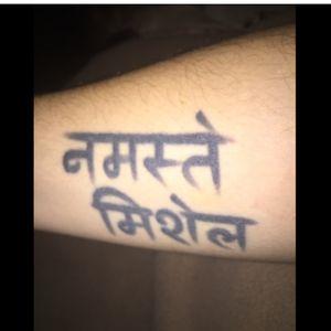 #Sanskrit #namastétattoo #namaste #buddhism #michele