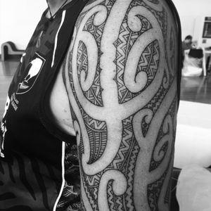 Upper arm moko mid view #moko #shouldermoko #tamoko #maori #tatau