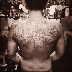 """Life Is Like A Dice"" #tattoo #tat  #ink #inkjunky #inked  #gangstatattoo #chicanotattoo #blackandgray #blackandgraytattoo  #Christopher"