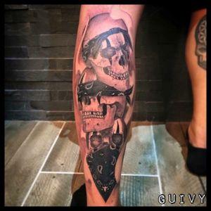 #codeofsilence #omerta #chicano #chicanostyle #chicanostattoo #bandana #skull #blackandgrey #guivy #artforsinners #tattoo #tatouage #geneva #geneve #switzerland