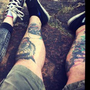 #traditional #leg #wolftattoo #gorillatattoo