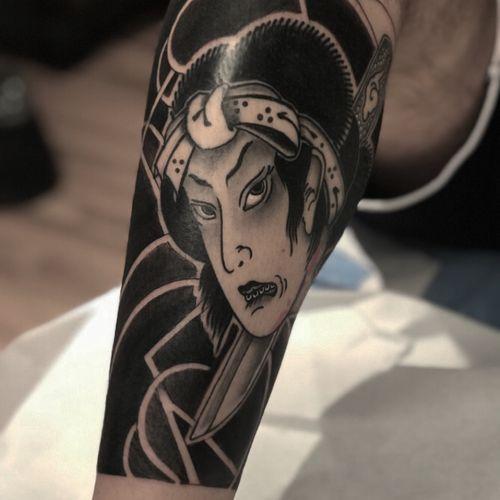 Namakubi #btattooing #blackboldsociety #blacktoptattooing #BLXCKINK #oldlines #tattoosandflash #darkartists #tattoosandflash #topclasstattooing #darkartists #thebesttattooartist  #japanesetattoos #irezumitattoo #horimono #tatuaggiogiapponese  #orientaltat
