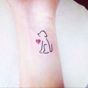 #little #littletattoos #littlethings #dog #doglover #heart #heartache