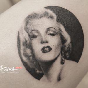 Marilyn Monroe ( @adela_tattooer ) #blackandgraytattoo  #realistictattoo #realistic #tattooflash #blackworkerssubmission  #artwork #tattoodesign #dailylook #tattooer #tattooist #blackandgrey #tattooed #inkd #tattooing #linework #tattoo  #koreatattoo #blackwork #blackworkers #bkik #portraittattoo #realisticportrait