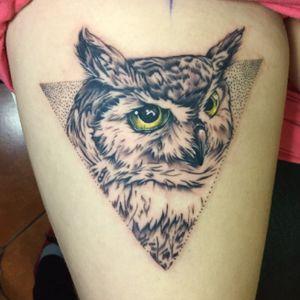 owl tattoo #bishopmagi #JulioBlandontattooart