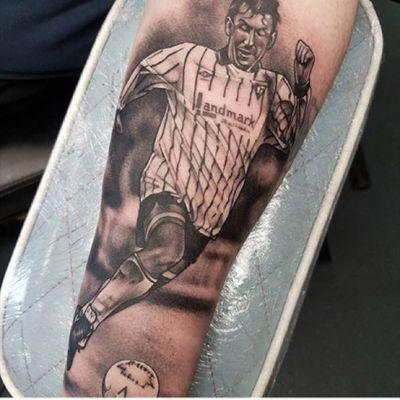 Dunfermline Athletic istvan Kozma tattoo #dafc #thepars #dunfermline #istvankozma #kozma #footballtattoo #football #dunfermlineathletic #coyp