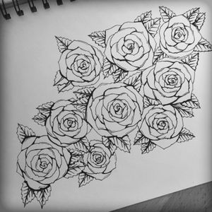 Sketching #roses #tattoo #outline #upperarm #flowers #rose #linedrawing #sketch #stencil #idea #design #tattoodesign