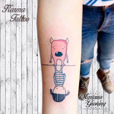 Martina and Anitram tattoo #tattoo #tatuaje #color #mexicocity #marianagroning #tatuadora #karmatattoo #awesome #colortattoo #tatuajes #claveria #ciudaddemexico #cdmx #tattooartist #tattooist #martina
