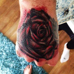 Hand rose #rose #funky #handtattoo #killerink
