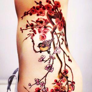 #annayershova#bird#branch#flowers