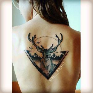 #emmk #deer#naturetattoo