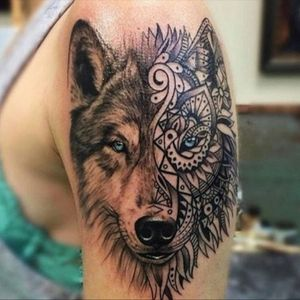 This is my dream tattoo and the start of my left sleeve that I want. But i want the image to be my dog Ariel. I've never had such a strong bond with a dog like I do with her. I love all of my dogs, but she is my baby. #megandreamtattoo #MeganMassacre  #meganmassacrecontest #Ilovetattoos #inkaddict #tattooswithmeaning