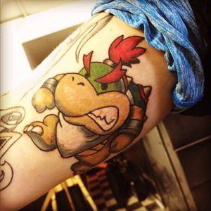 Baby bowser #bowser #babybowser #tattoo #color #colortattoo #mario #bigwilltattoos