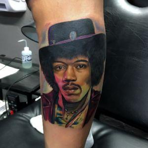 Jymmy Hendrix in progress.