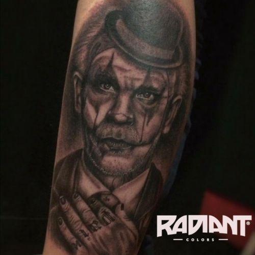Clown tattoo #blackandgrey #tattoo #tatuadorescolombianos
