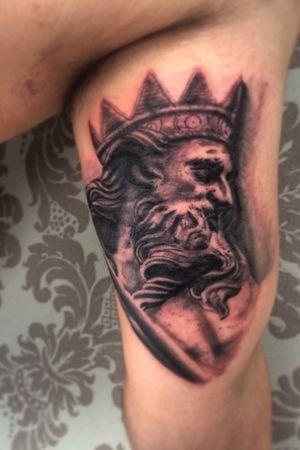 #neptune #poseidon #greek #god #blackandgrey