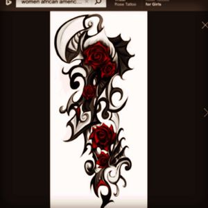 This is a tribal rose tattoo that i would like to get starting on the back of my right shoulder and spiral it down to a half sleeve! Done by one of my faves #megandreamtattoo... pic credit: The Internet