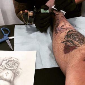 #tattooconvention #legtattoo #demontattoo #tattoo