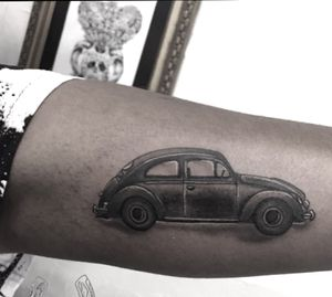 www.garethdoye.co.za #vw #beetle #cartattoo #tattoooftheday #kakluckytattoos #capetown