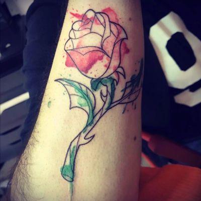 #rose #beautyandthebeast #watercolor #red #green #tattoo #watercolortattoo 💫 #tattoo #tattoos #tat #toptags #ink #inked #tattooed #tattoist #coverup #art #design #instaart #instagood #sleevetattoo #handtattoo #chesttattoo #photooftheday #tatted #instatattoo #bodyart #tatts #tats #amazingink #tattedup #inkedup