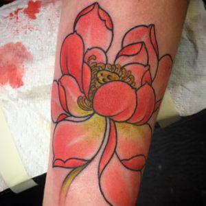 #larascotton #nyc #tattoooftheday #daredeviltattoo #lotus