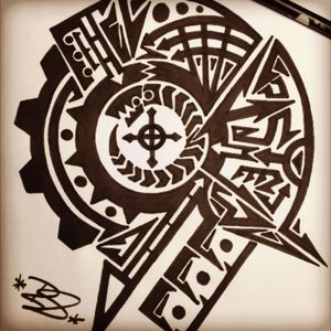 Nice sketch from last week.. #maori #mechanic #badass #tattoosketch #tattoo #turbo #mobileinkstitution #hannover #follow4follow