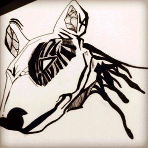 Sketching #bulterier #sketching #ink