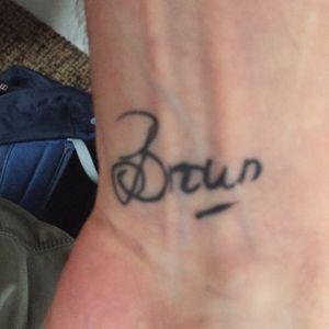 My wifes signature