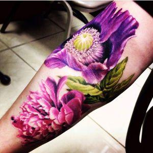 Artist Caryl Cunningham #carlycunningham#flowers #peonies #purpleflower #pinkflower